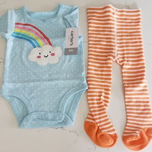 Carter's baby 2 piece short sleeve outfit